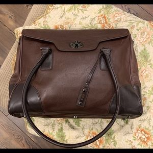 Kenneth Cole brown leather laptop case NWOT